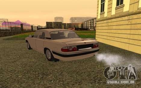 GAZ Volga 31105 para GTA San Andreas traseira esquerda vista
