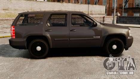Chevrolet Tahoe Slicktop [ELS] v2 para GTA 4 esquerda vista