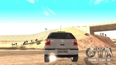 Volkswagen Polo 2.0 2005 para GTA San Andreas esquerda vista