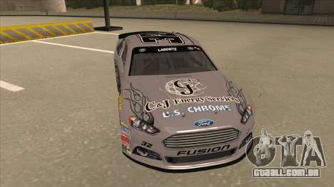 Ford Fusion NASCAR No. 32 C&J Energy services para GTA San Andreas esquerda vista