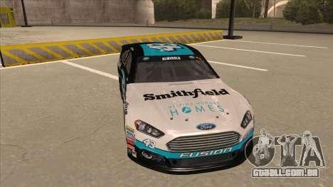 Ford Fusion NASCAR No. 43 Smithfield Foods para GTA San Andreas esquerda vista
