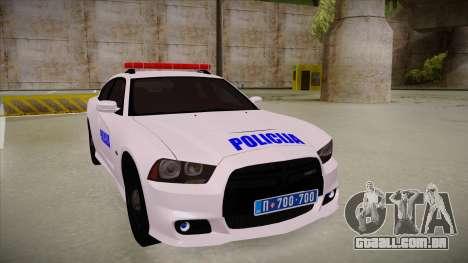 Dodge Charger SRT8 Policija para GTA San Andreas esquerda vista