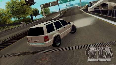Jeep Grand Cherokee para GTA San Andreas esquerda vista