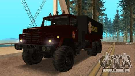 Caminhão escola de condução v. 2.0 para GTA San Andreas