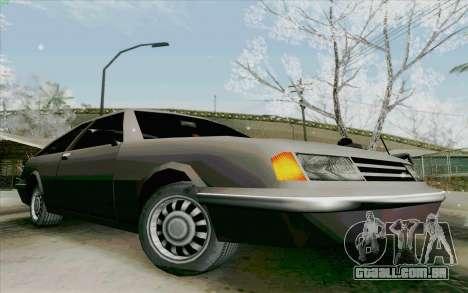 Manana Hatchback para GTA San Andreas traseira esquerda vista