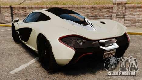 McLaren P1 [EPM] para GTA 4 traseira esquerda vista