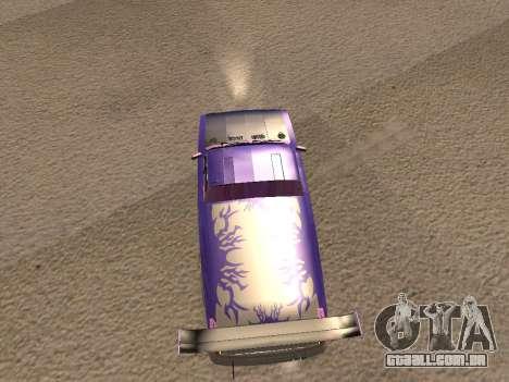 Vaz 2102 divertido DRFT para GTA San Andreas vista direita