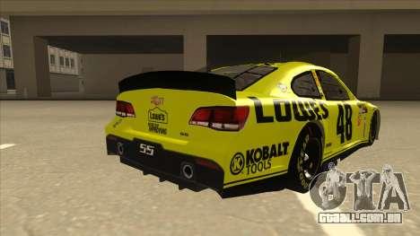 Chevrolet SS NASCAR No. 48 Lowes yellow para GTA San Andreas vista direita