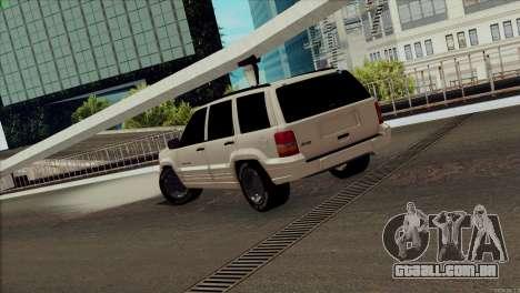 Jeep Grand Cherokee para GTA San Andreas traseira esquerda vista