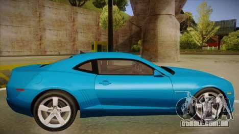 Chevrolet Camaro para GTA San Andreas traseira esquerda vista