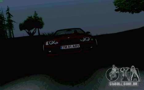 BMW M3 Cabrio para GTA San Andreas vista traseira