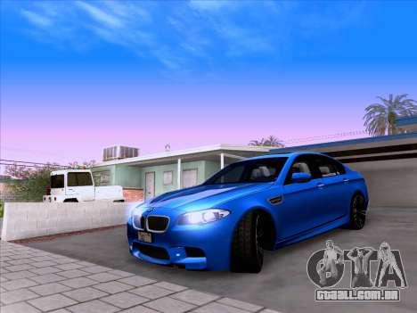 BMW M5 F10 2012 Autovista para GTA San Andreas vista traseira