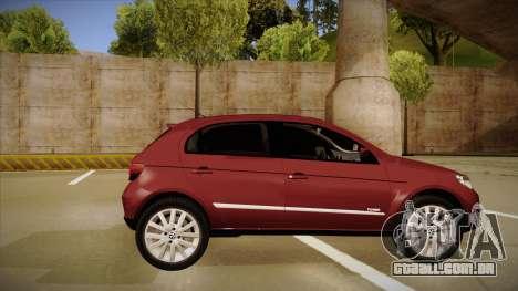 VW Gol Power 1.6 2009 para GTA San Andreas traseira esquerda vista