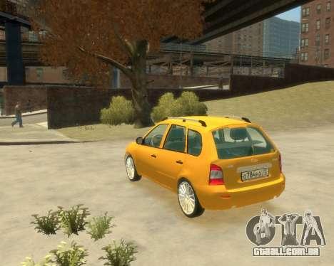 Lada Kalina Hatchback para GTA 4 esquerda vista