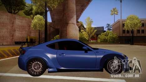 Scion FR-S Rocket Bunny para GTA San Andreas traseira esquerda vista