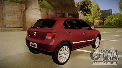 VW Gol Power 1.6 2009 para GTA San Andreas vista direita