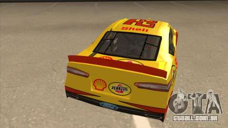 Ford Fusion NASCAR No. 22 Shell Pennzoil para GTA San Andreas vista direita