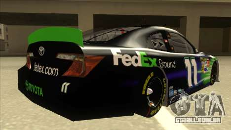 Toyota Camry NASCAR No. 11 FedEx Ground para GTA San Andreas vista direita