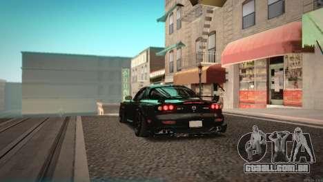 Mazda RX-7 STANCENATION para GTA San Andreas vista traseira