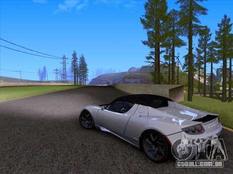 Tesla Roadster Sport 2011 para GTA San Andreas vista superior