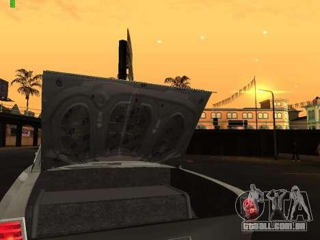 Edição de arrastar gás 24 para GTA San Andreas vista interior