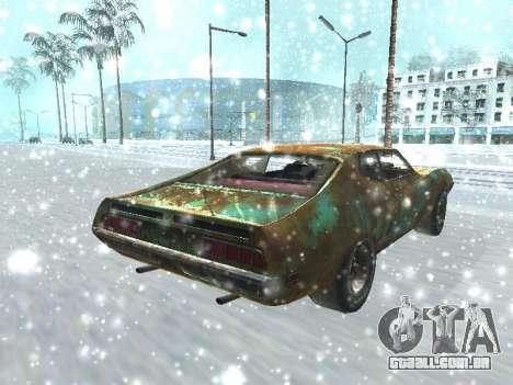 Ford Torino Rusty para GTA San Andreas traseira esquerda vista