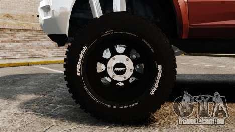 Dodge Ram 2500 Lifted Edition 2011 para GTA 4 vista de volta