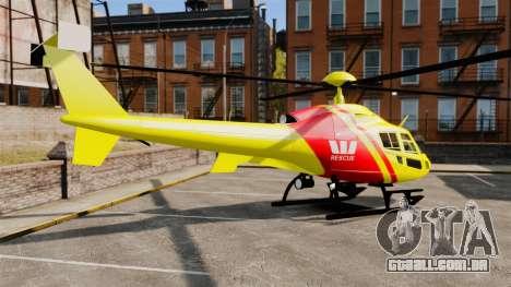 Westpac Rescue Australia para GTA 4 esquerda vista