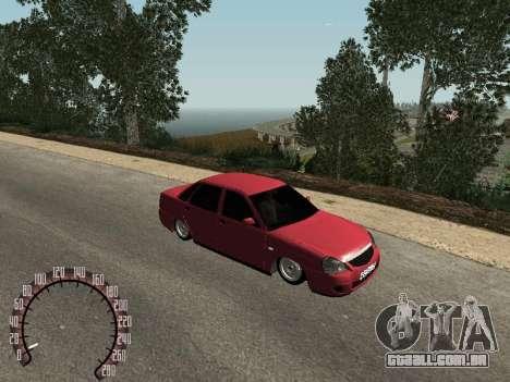 Lada 2170 Priora para GTA San Andreas esquerda vista