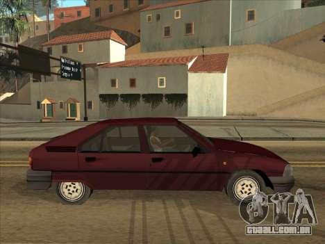 Citroën BX para GTA San Andreas vista direita