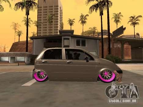 Daewoo Matiz Mexi Flush para GTA San Andreas esquerda vista
