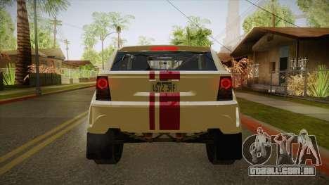 Coco EXR S 2012 FIV & APT para GTA San Andreas vista traseira