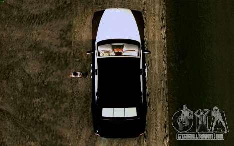 Rolls-Royce Ghost para GTA San Andreas vista traseira