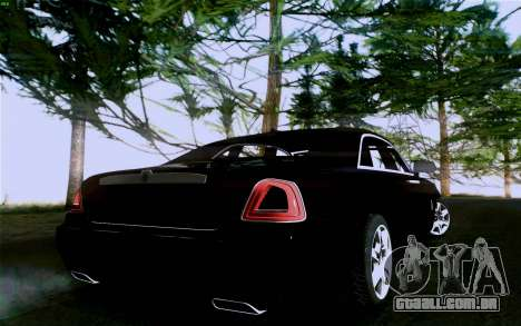 Rolls-Royce Ghost para GTA San Andreas vista interior