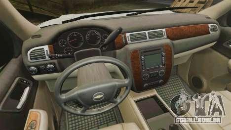 Chevrolet Tahoe Slicktop [ELS] v2 para GTA 4 vista de volta