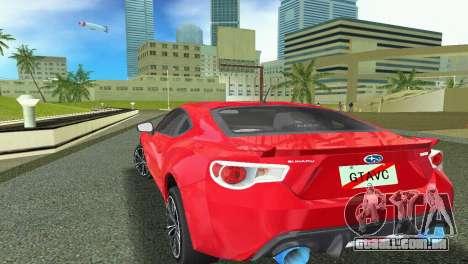 Subaru BRZ Type 1 para GTA Vice City vista traseira