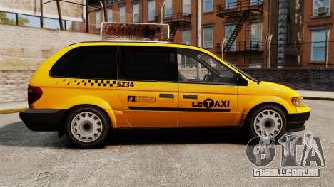 Dodge Grand Caravan 2005 Taxi LC para GTA 4 esquerda vista
