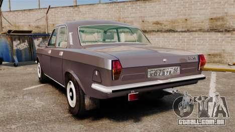 Volga GAZ-2410 v2 para GTA 4 traseira esquerda vista