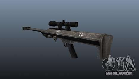Rifle de sniper Barrett M99 para GTA 4 segundo screenshot