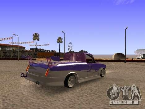 Vaz 2102 divertido DRFT para GTA San Andreas traseira esquerda vista
