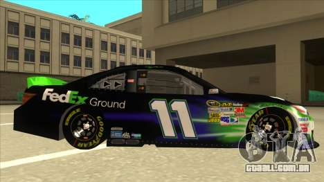 Toyota Camry NASCAR No. 11 FedEx Ground para GTA San Andreas traseira esquerda vista