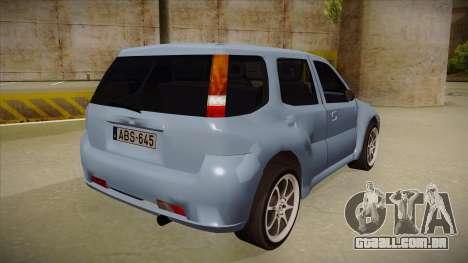 Suzuki Ignis para GTA San Andreas vista direita