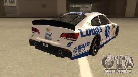 Chevrolet SS NASCAR No. 48 Lowes white para GTA San Andreas vista direita
