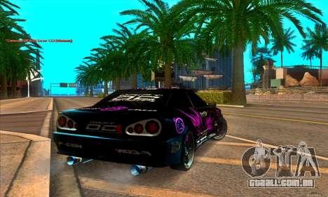 Elegy DC v1 para GTA San Andreas traseira esquerda vista
