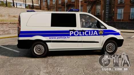 Mercedes-Benz Vito Croatian Police v2.0 [ELS] para GTA 4 esquerda vista