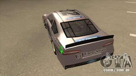 Ford Fusion NASCAR No. 32 C&J Energy services para GTA San Andreas vista traseira