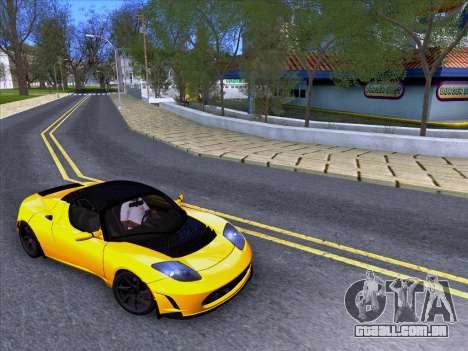 Tesla Roadster Sport 2011 para GTA San Andreas vista direita