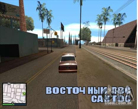 GTA 5 HUD para GTA San Andreas segunda tela