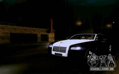 Rolls-Royce Ghost para vista lateral GTA San Andreas