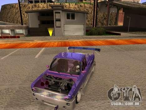 Vaz 2102 divertido DRFT para GTA San Andreas vista interior